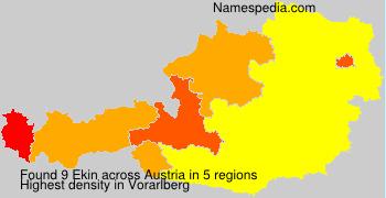 Surname Ekin in Austria