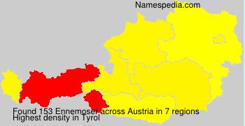 Familiennamen Ennemoser - Austria