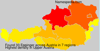 Surname Eppinger in Austria