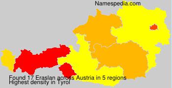 Surname Eraslan in Austria