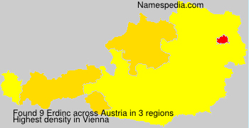 Surname Erdinc in Austria