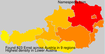 Familiennamen Ernst - Austria