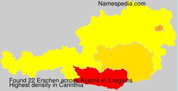 Surname Erschen in Austria