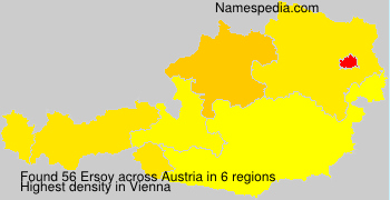 Surname Ersoy in Austria