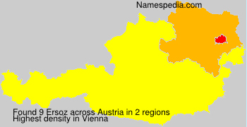 Surname Ersoz in Austria