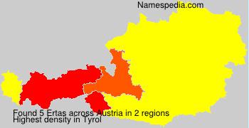 Surname Ertas in Austria