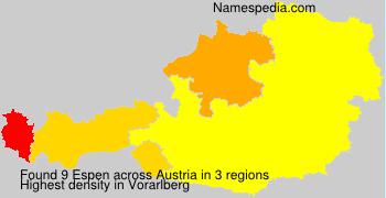 Surname Espen in Austria