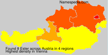 Surname Ester in Austria
