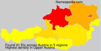 Surname Etz in Austria