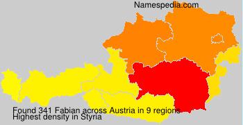 Surname Fabian in Austria