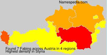 Familiennamen Fabing - Austria