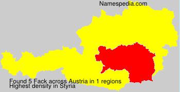 Surname Fack in Austria