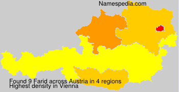 Surname Farid in Austria