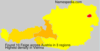 Surname Feige in Austria