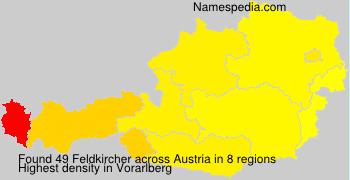 Surname Feldkircher in Austria