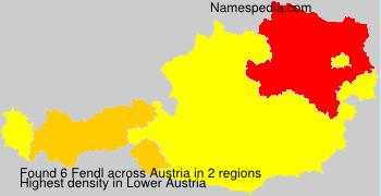 Familiennamen Fendl - Austria