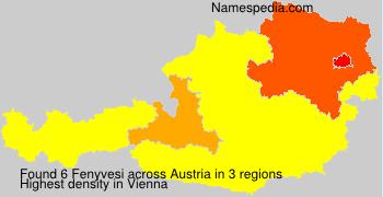 Surname Fenyvesi in Austria