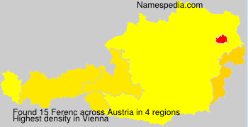 Surname Ferenc in Austria