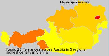 Familiennamen Fernandez - Austria
