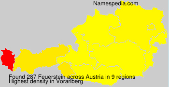 Familiennamen Feuerstein - Austria