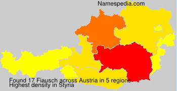 Surname Fiausch in Austria