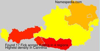 Surname Fick in Austria
