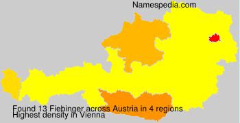 Familiennamen Fiebinger - Austria