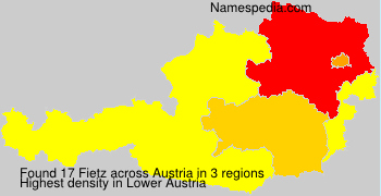 Surname Fietz in Austria