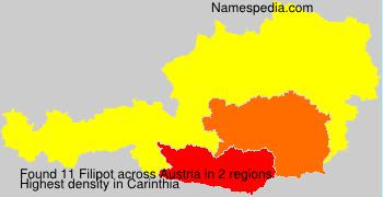 Familiennamen Filipot - Austria