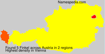Surname Finkel in Austria
