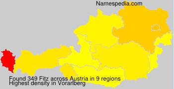 Surname Fitz in Austria