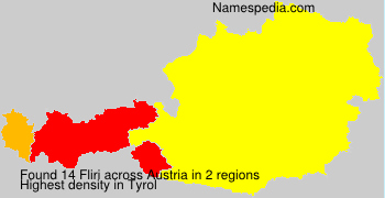 Surname Fliri in Austria