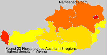 Familiennamen Florea - Austria