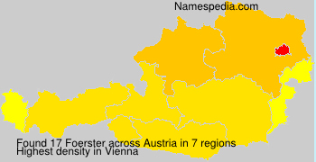 Surname Foerster in Austria