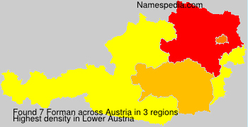 Surname Forman in Austria