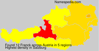 Surname Franck in Austria