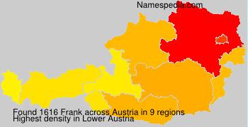 Familiennamen Frank - Austria
