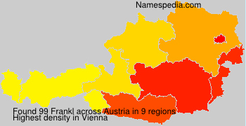 Surname Frankl in Austria