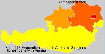 Surname Frauendienst in Austria