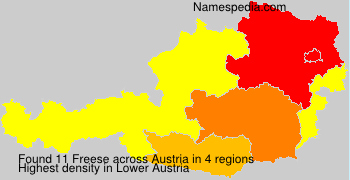 Surname Freese in Austria