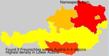 Familiennamen Freunschlag - Austria