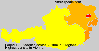 Surname Friederich in Austria