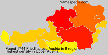 Surname Friedl in Austria