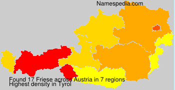 Surname Friese in Austria