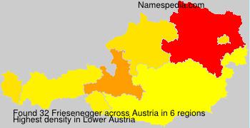 Familiennamen Friesenegger - Austria