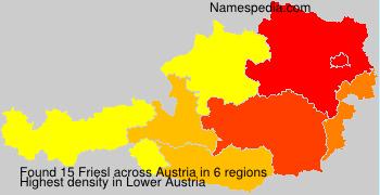 Surname Friesl in Austria