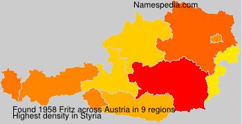 Familiennamen Fritz - Austria