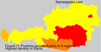Familiennamen Fromme - Austria
