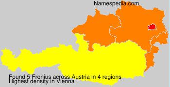Familiennamen Fronius - Austria