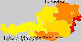 Surname Fruhstuck in Austria